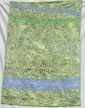Batik Green and Blue - SOLD