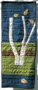 Four Leaves on three Birches SOLD